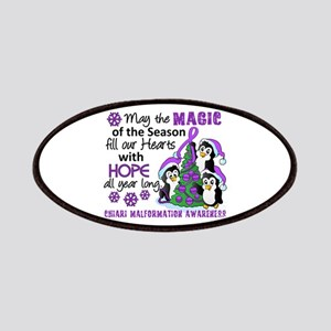 Holiday Penguins Chiari Malformation Patches