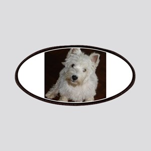 puppy west highland white terrier sitting Patch