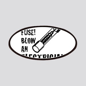 f9d4f7c9 save a fuse blow an electrician funny sparky Patch