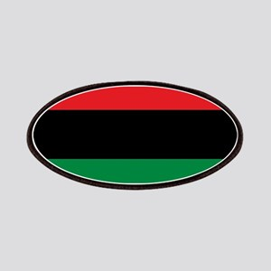 African American Flag - Red Black and Green Patch