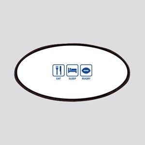 Eat Sleep Rugby Patches