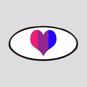 Striped Bisexual Heart Patches