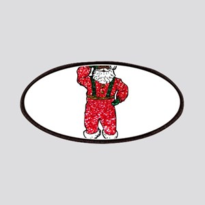glitter black santa claus Patch