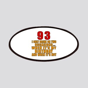 93 Birthday Designs Patch