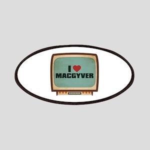 Retro I Heart MacGyver Patches