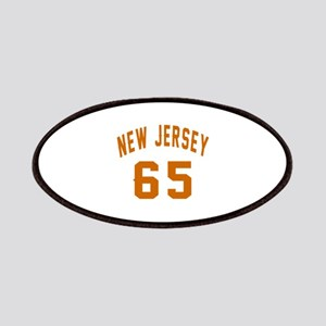 New Jersey 65 Birthday Designs Patch