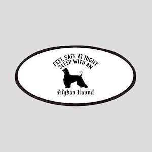 Sleep With Afghan Hound Dog Designs Patch