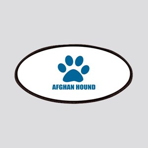 Afghan Hound Dog Designs Patch