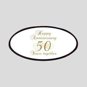50th Anniversary (Gold Script) Patches