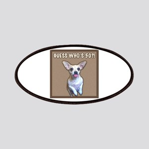 50th Birthday Humor (Dog) Patches