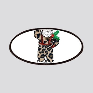 african leopard santa claus Patch