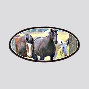 Old window 3 horses Patches