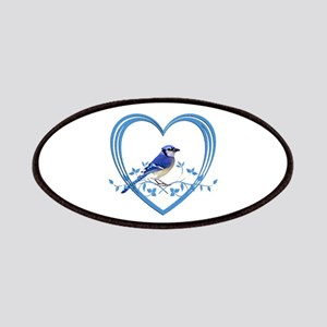 Blue Jay in Heart Patch