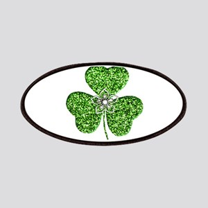Glitter Shamrock With A Flower Patches