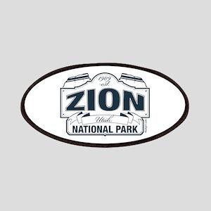 Zion National Park Blue Sign Patches