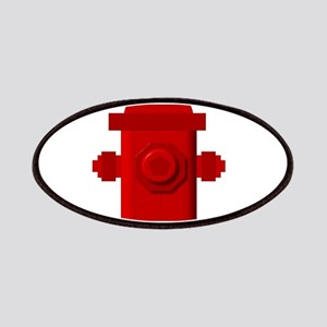 Red fire hydrant Patch