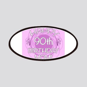 90th Birthday For Mom (Floral) Patches