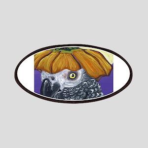 African Grey Parrot Halloween Pumpkin Patch