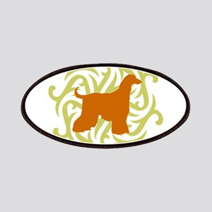 Lime & Rust Afghan Hound Patches