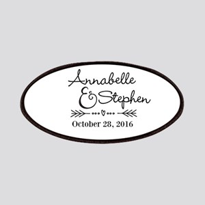 Couples Names Wedding Personalized Patch