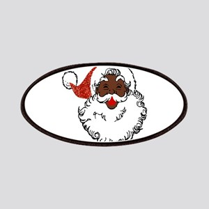 sequin African santa claus Patch