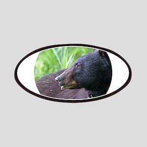 Black Bear Munching on Plants Patch