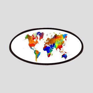 Design 33 Colorful World map Patch
