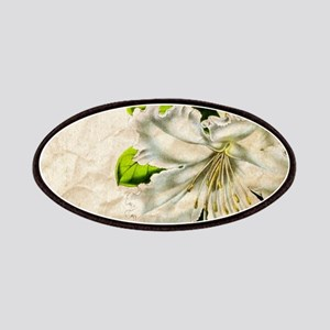 french botanical white lily Patch
