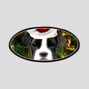 Christmas Boxer Dog Patch