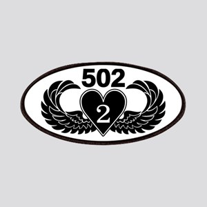 2-502 Black Heart Patches