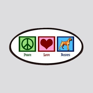 Peace Love Boxer Dog Patch