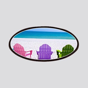 Lounge Chairs On Beach Patch
