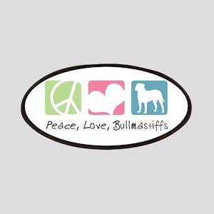 Peace, Love, Bullmastiffs Patches