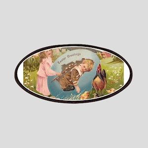 Vintage Easter Victorian Girl & Boy Patch