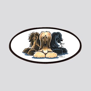 3 Afghan Hounds Patches