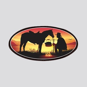 Cowboy and Horse at Sunset Patch