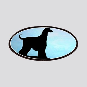 Afghan Hound Blue Sunset Patches