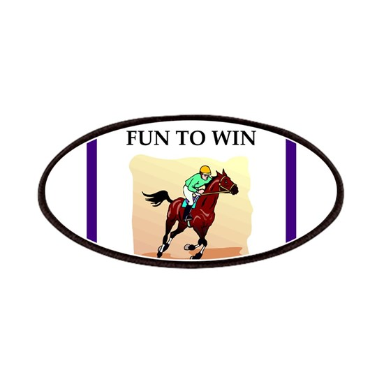 b76c1ffa Horse racing joke Patch by BridgeBabe - CafePress