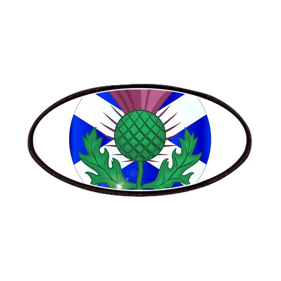 Scotish Flag And Thistle Button