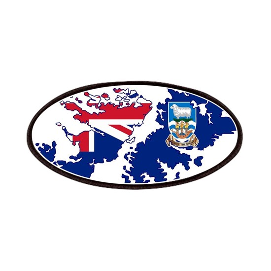 Falkland Islands Silhouette Flag Map