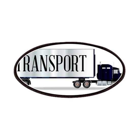 Truck Tractor Unit And Trailer With Transport Insc