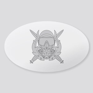 Combat Diver Supervisor Sticker (Oval)