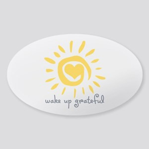 Wake Up Grateful Sticker (Oval)