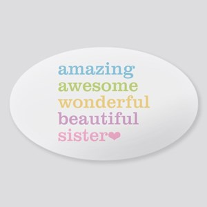 Amazing Sister Sticker (Oval)