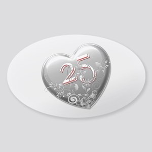 25th Anniversary Sticker (Oval)
