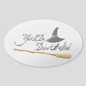 Yes I do drive a stick Sticker (Oval)