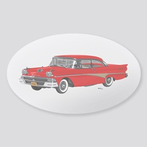 1958 Ford Fairlane 500 Red Sticker (Oval)