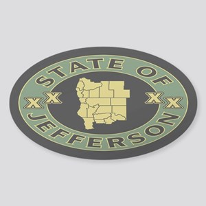 XX State of Jefferson XX Sticker (Oval)