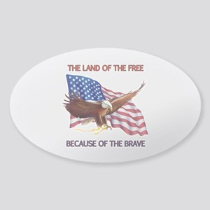 Land of the Free... Sticker (Oval)