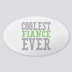 Coolest Fiance Sticker (Oval)